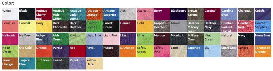 Gildan Color Swatch
